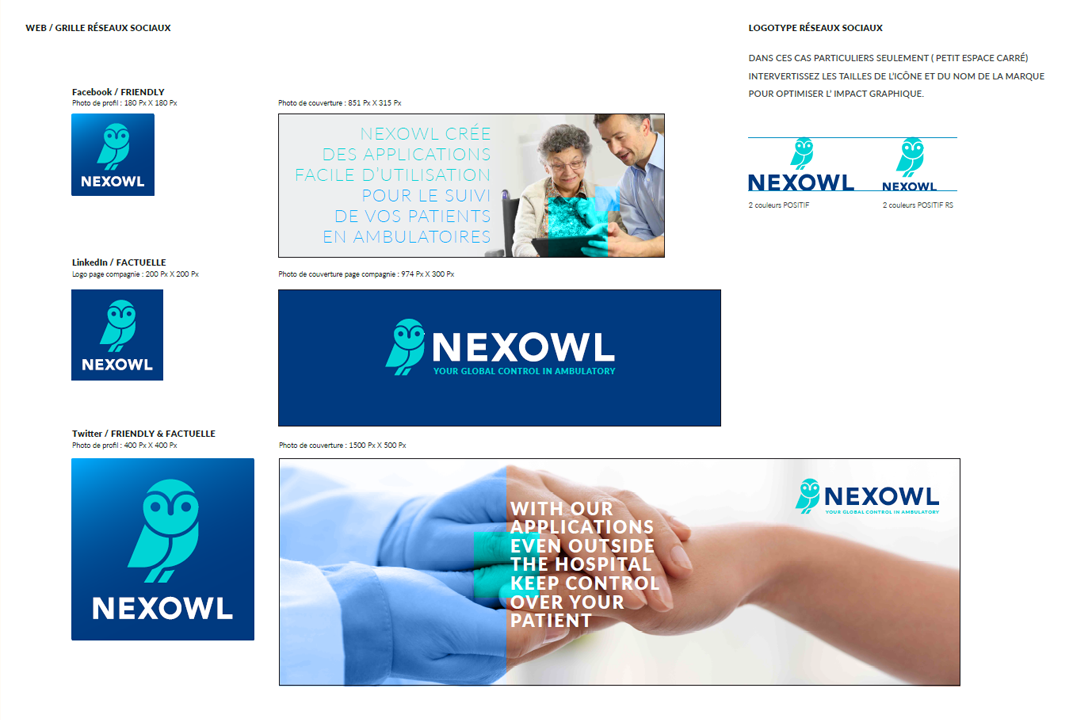nexowl - Extrait de la charte graphique