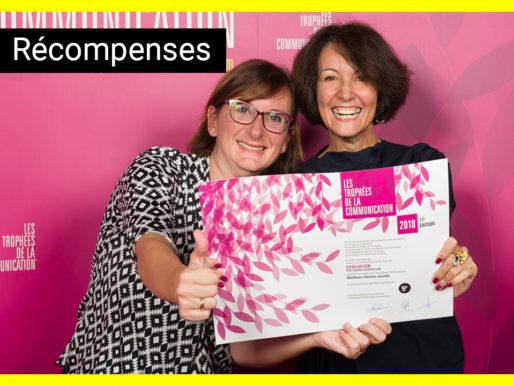 BrandSilver et evoluflor remportent un prix pour la meilleure identité visuelle aux Trophées de la Communication