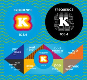 Logo Frequence K par BrandSilver