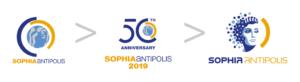 Evolution du logo de Sophia Antipolis
