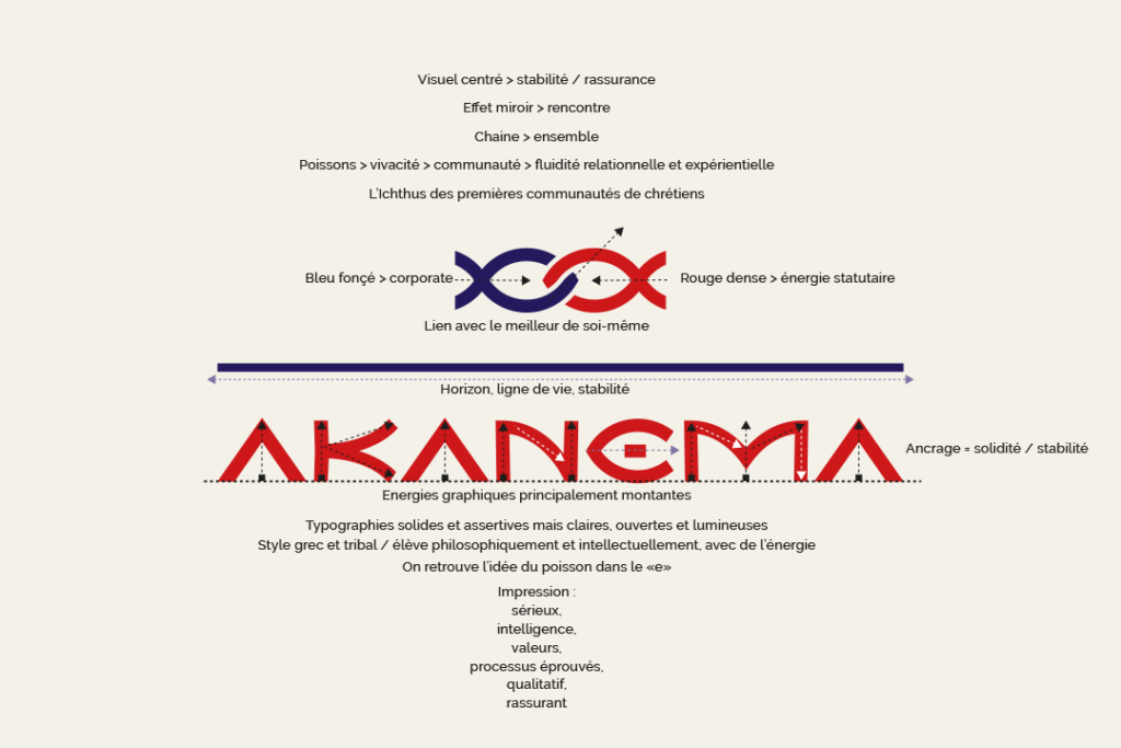 Structure du logotype Akanema - Crédit BrandSilver
