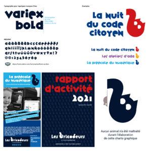 Extrait de la charte graphique et environnement visuel Les Bricodeurs - Crédit BrandSilver