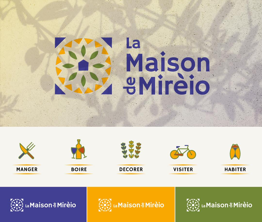 Environnement visuel (extrait) La Maison de MIreio - Crédit BrandSilver