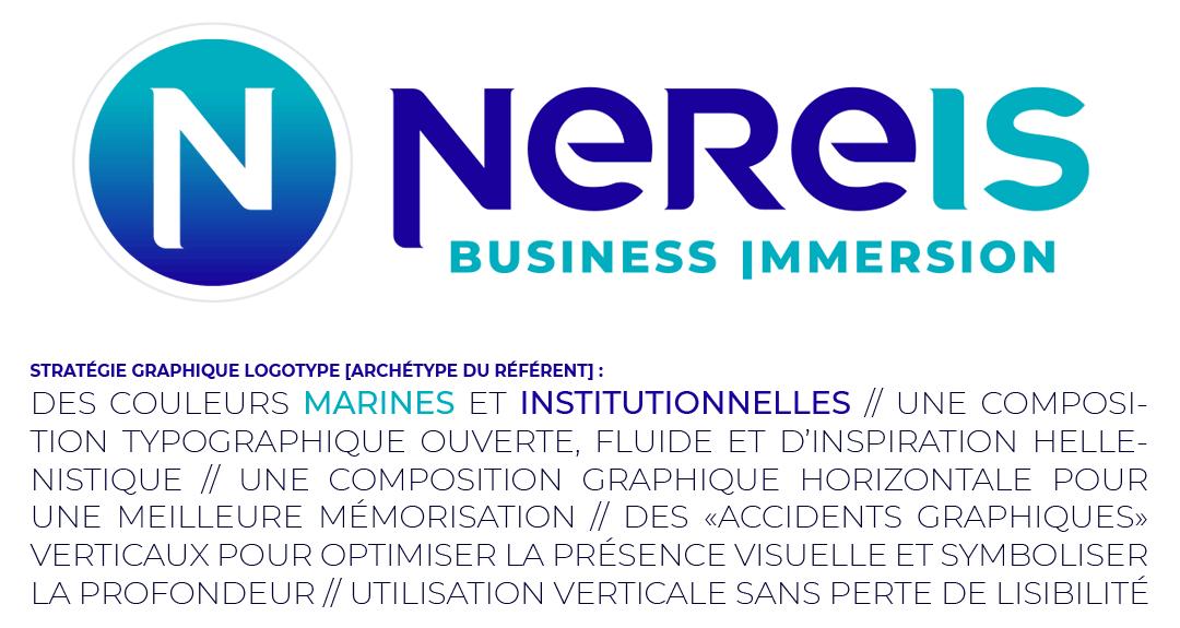 Logotype et concept créatif Nereis Business Immersion - Crédit BrandSilver